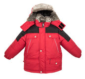 Теплая изолированная куртка Стоковая Фотография