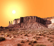Теплая долина памятника небес Стоковые Фото