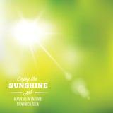 Теплая предпосылка вектора конспекта Солнця лета с Стоковое Изображение RF