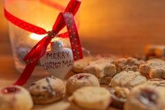 Теплая с Рождеством Христовым свеча Стоковые Фотографии RF