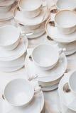 Теплая чашка чаю с помадками и конфетами Стоковое Фото