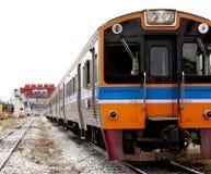 Тепловозный поезд в Азии и Таиланде Стоковое Фото
