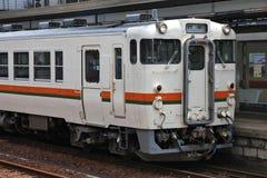 Тепловозный поезд в Японии Стоковое Фото