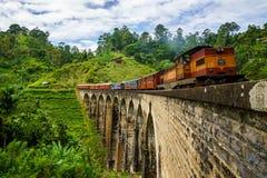 тепловозный старый поезд Стоковые Изображения