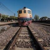 тепловозный старый поезд Стоковая Фотография