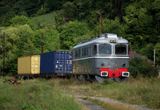 тепловозный электрический паровоз старый Стоковые Фото