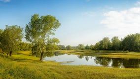 Теплое утро в августе Стоковые Изображения