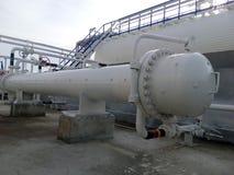 Теплообменный аппарат в рафинадном заводе Стоковые Фотографии RF