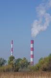 Тепло-электро централь Стоковые Изображения