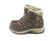 Теплые ботинки зимы isloated на белизне Стоковое Изображение