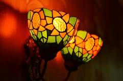 Теплые света на стене Стоковые Фото