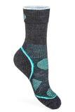 Теплый, зеленый и серый, носок спорта стоковое фото