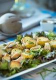 Теплый салат картошки Стоковая Фотография