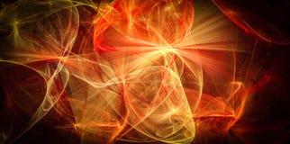 Теплый хаос абстрактных линий энергии Стоковая Фотография RF