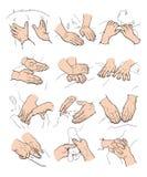 Терапевтический ручной массаж медицинская терапия бесплатная иллюстрация