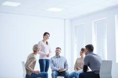 Терапия группы для социальной фобии Стоковая Фотография RF
