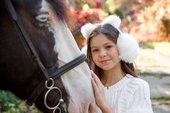 Терапия с лошадями - терапия гиппопотама Стоковые Фото