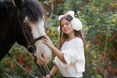 Терапия с лошадями - терапия гиппопотама Стоковая Фотография