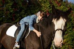 Терапия с лошадями - терапия гиппопотама Стоковое Фото