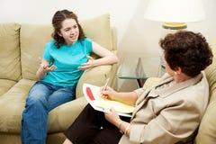терапия фрустрации выражения Стоковое Изображение