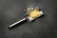 Терка и сыр металла Стоковая Фотография