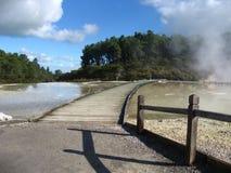 Термальные озера Стоковые Изображения