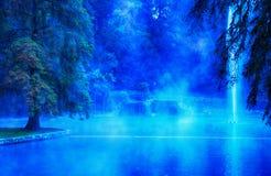 Термальное озеро Стоковая Фотография