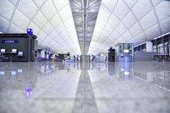 Терминал международного аэропорта Гонконга стоковая фотография