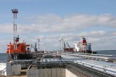 терминал нефтепровода нося Стоковое Изображение