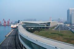 Терминал туристического судна международный Qingdao в Китае стоковое фото rf