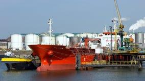 Терминал нефтепровода стоковая фотография rf