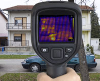 Термическое изображение дома Стоковые Изображения