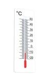 Термометр Градуса цельсия показывает низкую температуру Стоковое Изображение