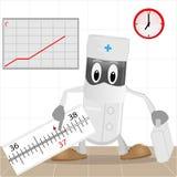 термометр доктора иллюстрация штока