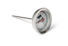 Термометр мяса еды Стоковое Изображение