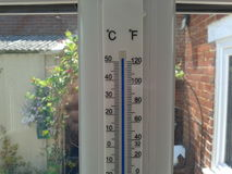 Термометр настолько горячий Стоковые Изображения