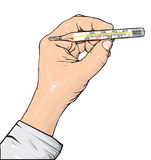 термометр руки Стоковая Фотография