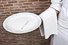 термометр сервировки тарелки Стоковое фото RF