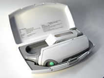 термометр случая цифровой Стоковая Фотография