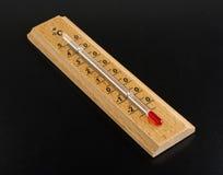 Термометр спирта на темной предпосылке стоковое изображение rf