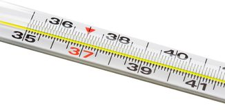 термометр температуры ртути проверки воздуха к стоковое изображение
