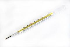 термометр температуры ртути проверки воздуха к Стоковое фото RF