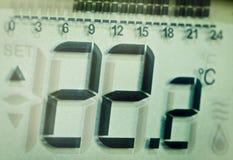 термостат дисплея Стоковая Фотография RF