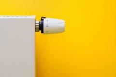 термостат оптимального радиатора установленный Стоковое фото RF