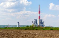 Термо- электростанция стоковые фотографии rf