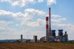 Термо- электростанция стоковая фотография rf