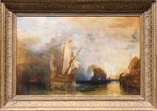 Тернер Иосиф Mallord Вильяма, крася стоковое изображение
