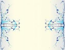 терновое предпосылки голубое флористическое Стоковое Фото