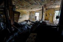 Терпеливая комната - покинутые больница & дом престарелых стоковая фотография