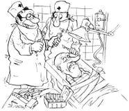 терпеливейшие хирурги Бесплатная Иллюстрация